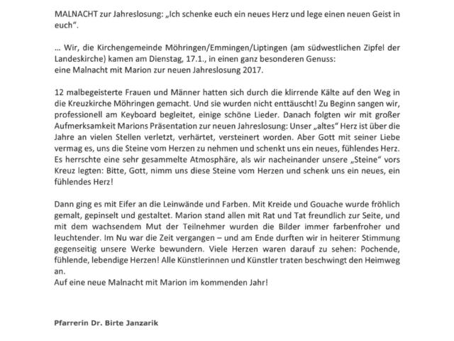 Malnacht Möhringen 17.01.17