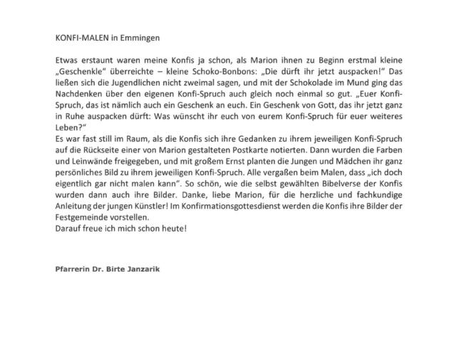 Konfi-Malen Emmingen 16.01.2017